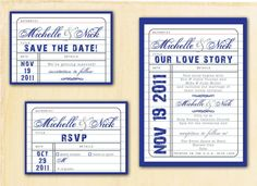 UNIQUE WEDDING INVITATION by sweetdashsprout on Etsy, $3.25