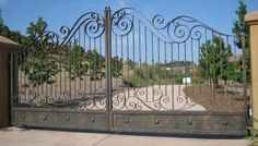 Driveway gate for security.. I'd have it controlled by both remote and intercom so we could communicate with guests and buzz them in.