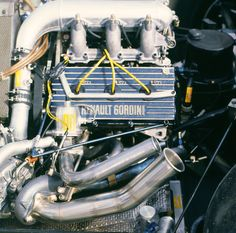 Renault Gordini EF1, 1,492 cc (91.0 cu in), 90° V6, turbo mid-engine, longitudinally mounted - the engine that powered the Renault RE40 in the 1983 season (USA 1983)