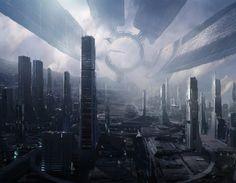 Citadel - Mass Effect.  Artwork by Bioware, print sold by Cook & Becker