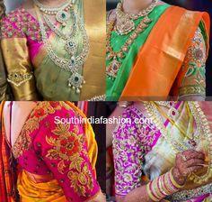 Blouse Designs for Wedding Silk Sarees photo