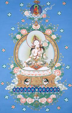 Sita (White) Tara - represents loving kindness and motherly protective aspect of our own mind and extends life span trough merit accumulated this way. http://www.himalayanart.org/search/set.cfm?setID=140