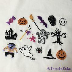 ハロウィン用の刺繍素材制作(オリジナル)