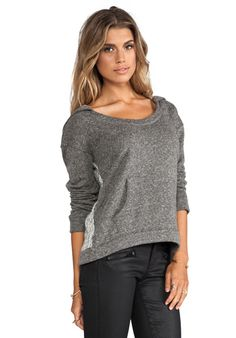 WOODLEIGH Lucianna Hoodie in Dark Heather - WOODLEIGH