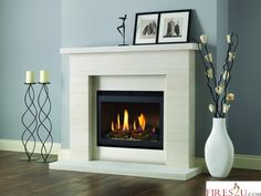 PUREGLOW DRAYTON AND CHELSEA HIGH EFFICIENCY GAS FIREPLACE SUITE - HIGH EFFICIENCY GAS FIRES