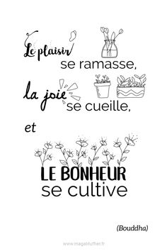 French Quotes, Positive Attitude, Happy Quotes, Sentences, Quotations, Real Life, Bullet Journal, Mindfulness, Messages