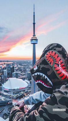 Toronto Cool Wallpaper, Wallpaper Backgrounds, Iphone Wallpaper, Bape Shark Wallpaper, Streetwear Wallpaper, Bape Wallpapers, Supreme Wallpaper, Hypebeast Wallpaper, Dope Art