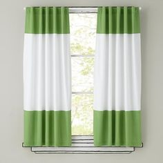 Nice affordable color block curtains of you have regular size windows - other colors too - Land of Nod - not just for kids