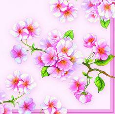 3427 Servilleta decorada flores