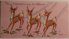 Old Christmas Post Cards — Reindeer. Vintage Greeting Cards, Vintage Christmas Cards, Vintage Holiday, Christmas Greeting Cards, Christmas Greetings, Christmas Post, Christmas Scenes, Christmas Deer, Christmas Crafts