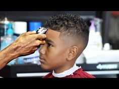 HOW TO: Kid's Faded Faux Hawk / Mohawk | Men's Haircut Tutorial | HD - 1080 p - YouTube