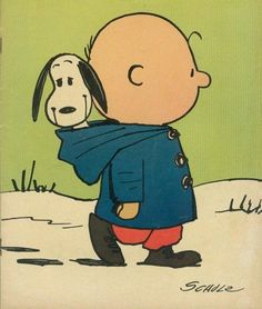 :) Charlie Brown w/Snoopy riding happily in Charlie's Hood http://imgfave.com/popular/page:8