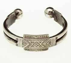 Mauritania | Silver anklet | African Museum (Belgium) Collection; acquired 1992