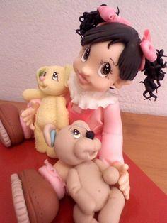 Nena y Oso en Porcelana fría by Porcelana Fria Paso a Paso, via Flickr