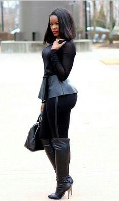 black women curves no pasta Sexy Outfits, Cute Outfits, Fashion Outfits, Womens Fashion, Fall Winter Outfits, Autumn Winter Fashion, Classy Women, Sexy Women, Best Streetwear Brands