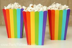 Popcorn Boxes Rainbo