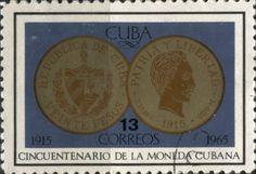 Sello: 20 Pesos (1915) (Cuba) (50th Anniversary of State Mint) Mi:CU 1079,Sn:CU 1016