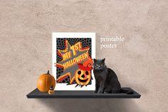 My 1st Halloween printable poster baby Halloween by ArigigiPixel