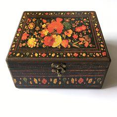 Decorado caja de madera de 20 x 20 cm