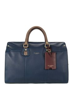Leather holdall bag - Navy | Bags | Ted Baker UK