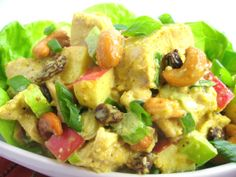 Salads/slaai – Page 3 – Kreatiewe Kos Idees Chicken Curry Salad, Chicken Salad Recipes, Healthy Chicken, Soup Recipes, Recipies, Whats For Lunch, I Love Food, Potato Salad, Salads