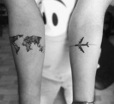 20 idées de tatouages à faire en couple - Be
