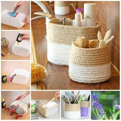 Newest Absolutely Free Home Decoration Crafts Ideas, Behälter . - my beautiful boards - Newest Absolutely Free Home Decoration Crafts Ideas, - Rope Crafts, Diy Home Crafts, Diy Crafts To Sell, Diy Home Decor, Decoration Crafts, Diy Earrings Easy, Creation Deco, Ideias Diy, Diy Art
