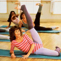 Jane Fonda, actually a tough workout.