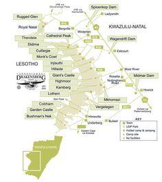 Thendele Camp, The Drakensberg, South Africa: 3 star KZN Wildlife Camp. Nottingham Road, National Parks Map, Kwazulu Natal, South Africa, Birth, Travel Destinations, Wedding Invitations, Bucket, Hiking
