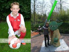 Voetbal en Lego zijn mijn hobbies.Yoda is helemaal van Lego gemaakt. groetjes Jordy