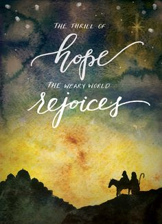 The Thrill of Hope: hand drawn art by Hillary Barnard Owen. Proceeds benefit women and children healing from abuse.