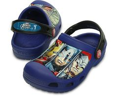 Avengers assemble! Make ordinary days more adventurous in these clogs featuring The Incredible Hulk™, Iron Man™, Captain America™ and Thor™. Our Croslite™ foam construction gives kids heroic comfort, and the heel strap gives them a secure fit as they dash into action. Free shipping on qualifying orders.