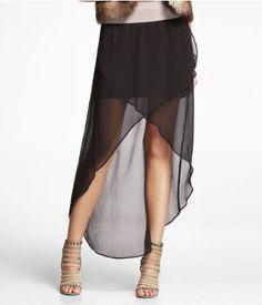black high-low skirt #trending