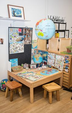 Inviting geography play space ready for play based learning.