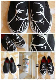 Darth Vader Shoes #starwars #tutorial