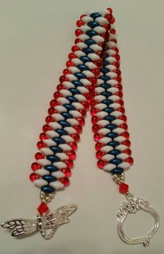 Check out this item in my Etsy shop https://www.etsy.com/listing/233363132/pretty4th-of-july-bracelet-patriotic