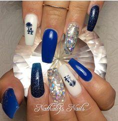 Dodgers Nails