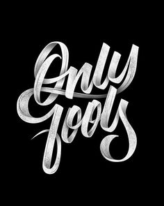 """Typography Inspiration . """"Only Fools"""" by Michael Vilorio . Type Design . Tipografia"""