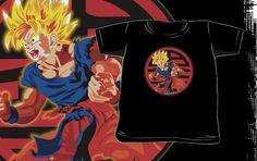Dragon Ball z Super Saiyan Goku Kids and Baby Tee Tshirt Clothes by pointsalestore