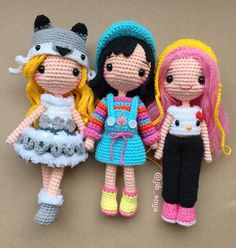 My girl 💕 - Salvabrani Crochet Doll Pattern, Easy Crochet Patterns, Crochet Designs, Doll Patterns, Amigurumi Patterns, Knitted Dolls, Crochet Dolls, Crochet Yarn, Crochet Decoration