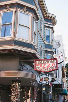 Tony's Pizza Italian Restaurant in North Beach, San Francisco