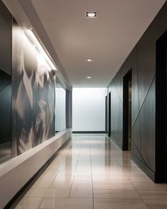 commercial office typical lobby interior design stone and bronze