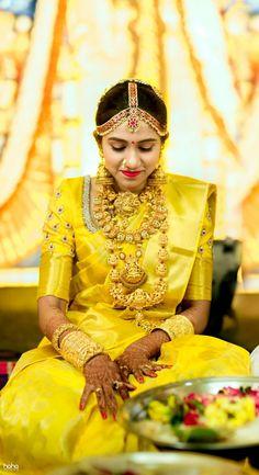 bridal makeup – Hair and beauty tips, tricks and tutorials Bridal Sarees South Indian, South Indian Weddings, Indian Bridal Wear, Indian Wedding Jewelry, South Indian Bride, Indian Wear, Bridal Jewellery, Wedding Saree Collection, Bridal Collection