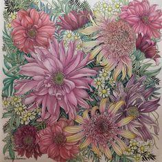 やっと仕上がりました #世界一美しい花のぬり絵book #leiladuly #floribunda #art #おとなのぬりえ #大人のぬり絵 #大人の塗り絵…