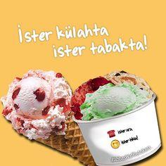 Pakette veya şubelerimizde; canınız ne zaman, nerede isterse! #AbbasWaffleAnkara #AbbasGelato #AloAbbas #YemekSepeti Gelato, Waffles, Ice Cream, Instagram Posts, Desserts, Food, No Churn Ice Cream, Tailgate Desserts, Deserts