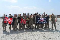 The Husker Fans we are proud of..Thanks for serving!!