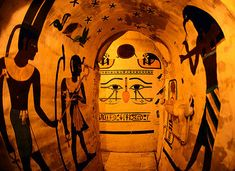 Egyptian theme for cave of Turin in Italy