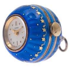 Tudor Sterling Silver And Blue Enamel Ball Watch With Original Box -  Switzerland - 1stdibs. 1d757bba33e