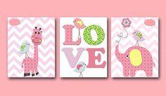 Elephant Nursery Giraffe Nursery Digital Print by nataeradownload