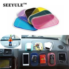 2pcs/lot SEEYULE Car Anti Slip Mat Dashboard Sticky Pad PVC for Non Slip Phone/mp3/mp4/GPS/Pad Car Accessories